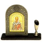 "Подставка для ручки с иконой ""Николай Чудотворец"""