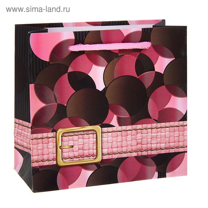 """Пакет ламинированный """"Ремешок"""", цвет розовый"""