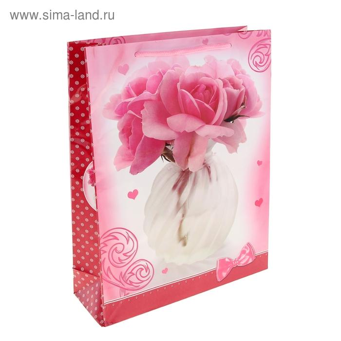 """Пакет ламинированный """"Цветы в вазе"""""""
