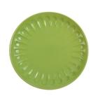 """Тарелка десертная d=21 см """"Изобилие"""", цвет зеленый"""