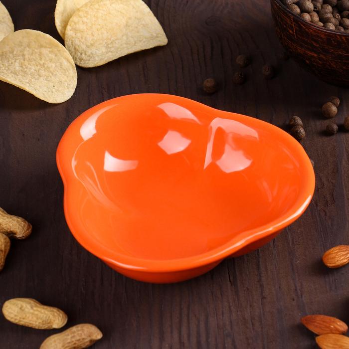 """Миска для снэков 200 мл """"Долька"""", цвет оранжевый"""