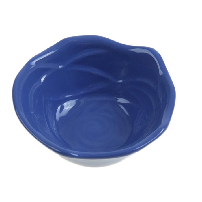 """Миска для снэков 200 мл """"Роза"""", 12 см, цвет синий"""