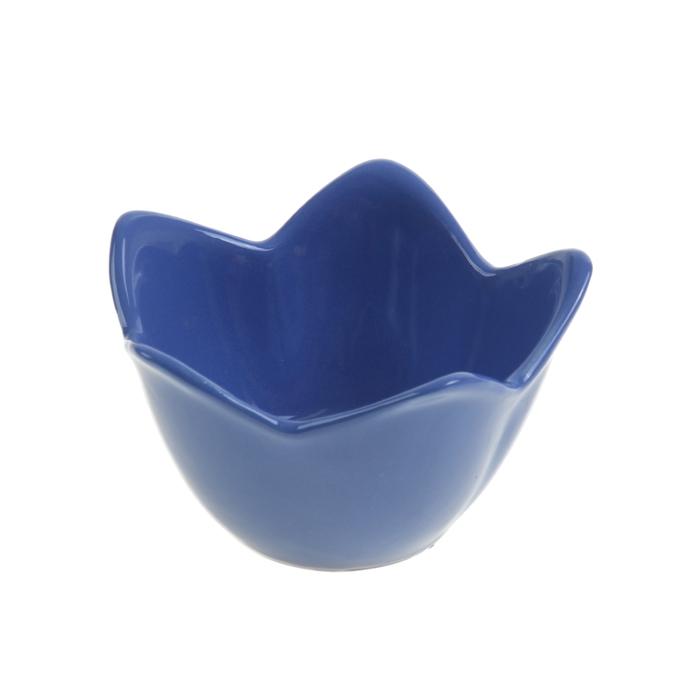 """Миска для снэков 250 мл """"Лилия"""", цвет синий"""