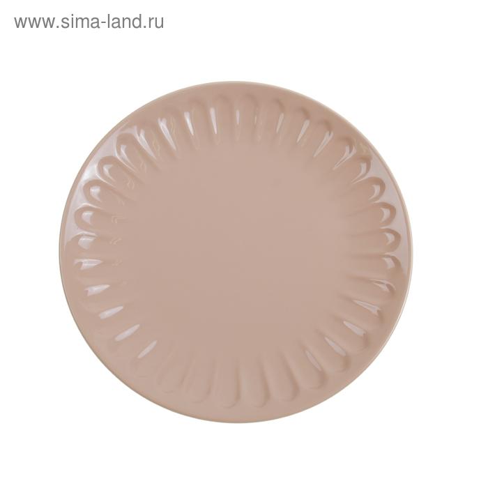 """Тарелка обеденная 27 см """"Изобилие"""", цвет бежевый"""