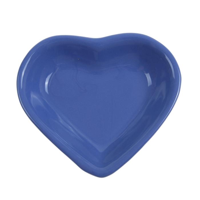 "Миска для снэков 200 мл ""Сердечко"", цвет синий"