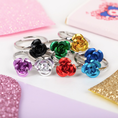 Ring baby rose, MIX color, dimensionless