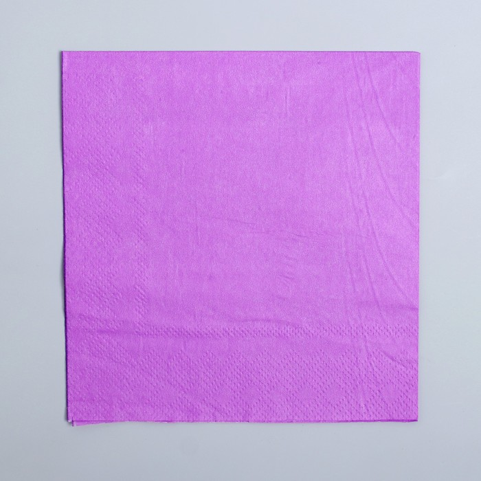 Салфетки бумажные (набор 20 шт) 25*25 см Однотонные, фиолетовый