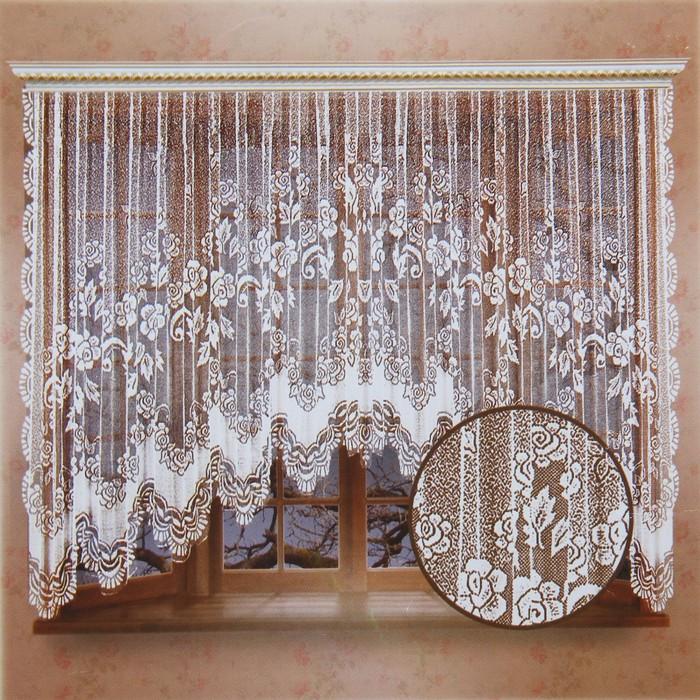 Штора 470х165 см, белый, 100% п/э, шторная лента