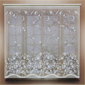 Штора 160х165 см, белый, 100% п/э, без шторной ленты