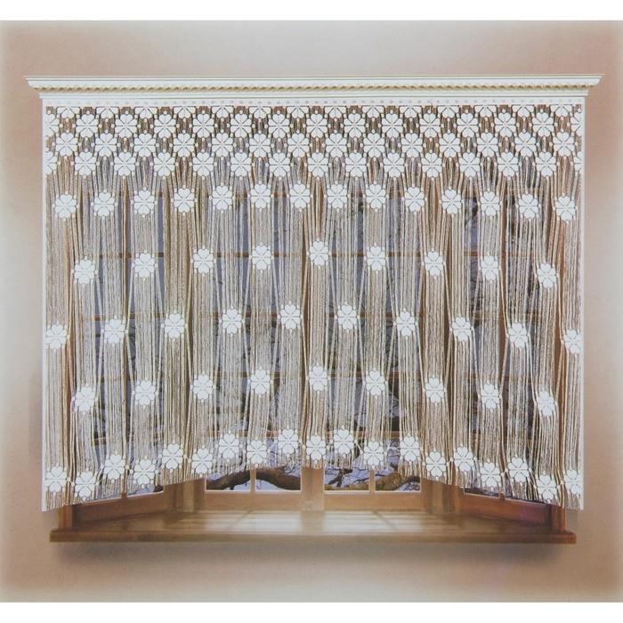 Штора со шторной лентой, ширина 240 см, высота 150 см, цвет белый