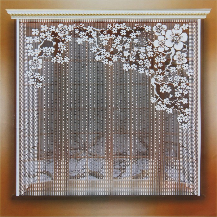 Штора 170х165 см, белый, 100% п/э, без шторной ленты