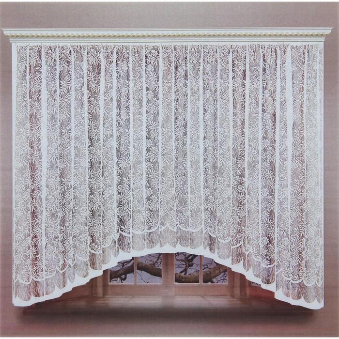 Штора со шторной лентой, ширина 320 см, высота 160 см, цвет белый