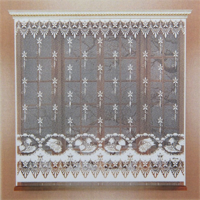 Штора без шторной ленты, ширина 170 см, высота 165 см, цвет белый