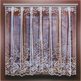 Штора кухонная 265х165 см, белый, 100% п/э, шторная лента