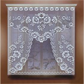 Штора без шторной ленты, ширина 110 см, высота 120 см, цвет белый