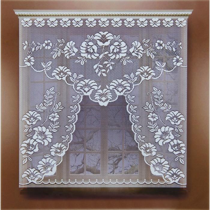 Штора 110х120 см, белый, 100% п/э, без шторной ленты