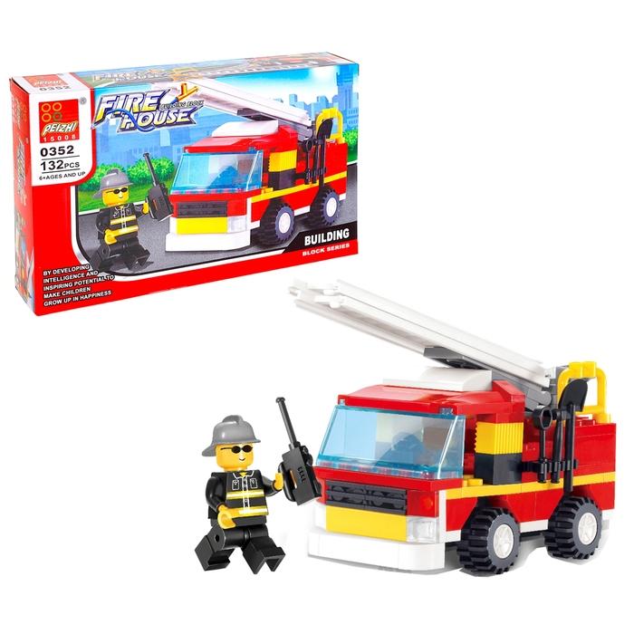 Конструктор «Пожарная бригада», 132 детали