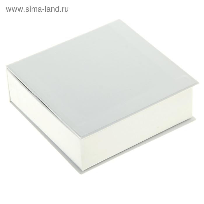 Коробка-шкатулка заготовка квадратная