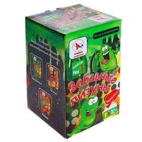 Набор для опытов «Забавные лизуны №1», цвет зелёный