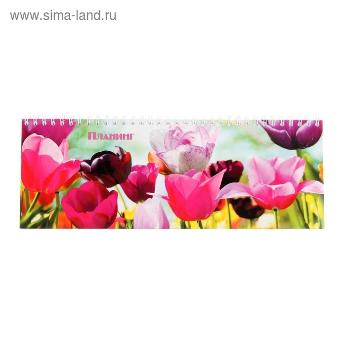 """Планинг недатированный 64 листа на гребне """"Цветы"""""""