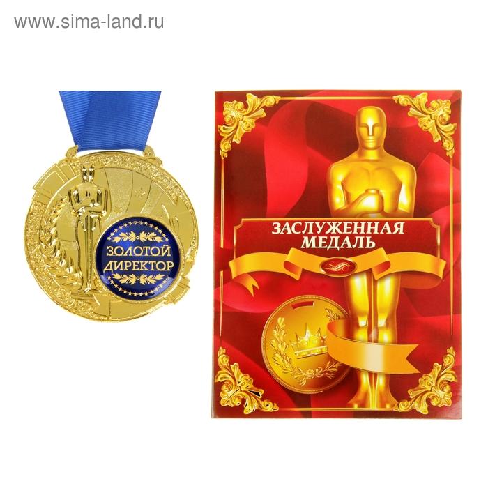 """Медаль с оскаром """"Золотой директор"""" в дипломе"""