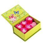 """Набор мыльных лепестков """"С 8 марта"""" смешанный, розовое сердце, с открыткой, в шкатулке, цвет розовый"""