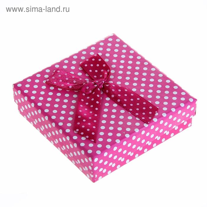 """Коробка подарочная """"Горошек"""", цвет розовый"""