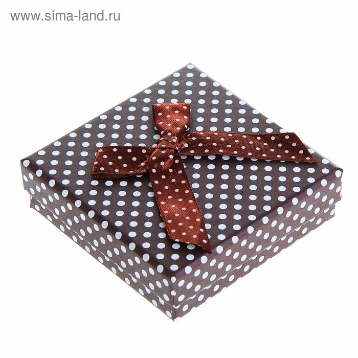 """Коробка подарочная """"Горошек"""", цвет коричневый"""