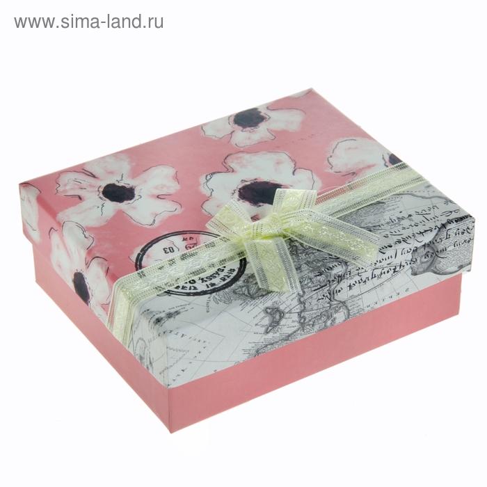 """Коробка подарочная """"Лето"""", цвет розовый"""