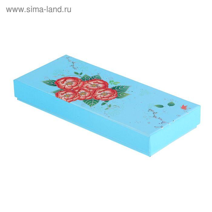 """Коробка подарочная """"Цветущий сад"""", цвет голубой"""
