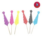 """Accessories for the photoshoot on a stick """"Tie"""" strip (set of 6 PCs.), MIX colors"""