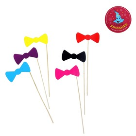 Accessories for the photoshoot on a stick Butterfly (set of 6 PCs.), MIX colors