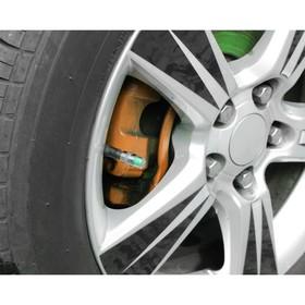Индикатор уровня давления в шинах, колпачок на ниппель, 2.4 атм, 4 шт