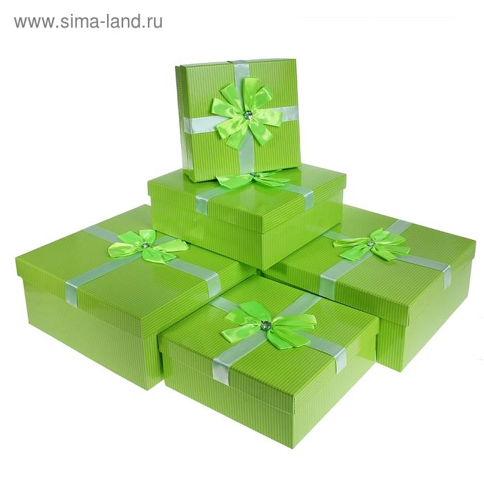 """Набор коробок 5в1 """"Моменты радости"""", цвет салатовый"""