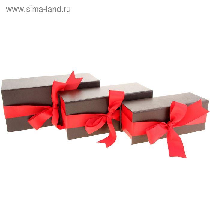 """Набор коробок 3в1 """"Искушение"""", цвет коричневый"""