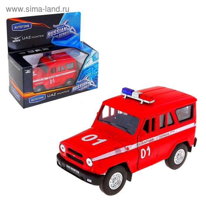 """Модель машины пожарная охрана """"UAZ HUNTER"""" 1:36"""