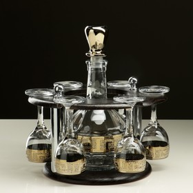 "Мини-бар ""Кристалл"" 7 предметов, кольцо 500 мл/ 60 мл"