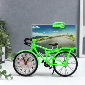 Фоторамка 'Велосипед' 10 х15 см, с часами, микс Ош