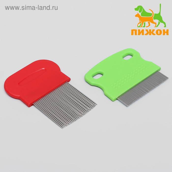 Набор из 2 расчесок-гребешков, с короткими и длинными зубьями МИКС