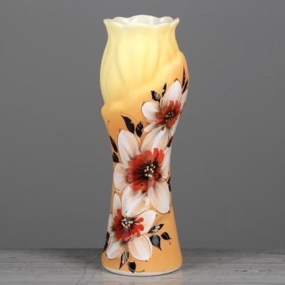 """Ваза """"Азалия"""" цветы, глазурь, 31 см"""