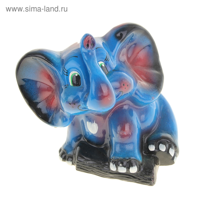 "Копилка ""Слон"" глянец, синяя"