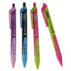 Ручка шариковая, автоматическая, 0.5 мм, с резиновым держателем, «Стиль», стержень синий, МИКС