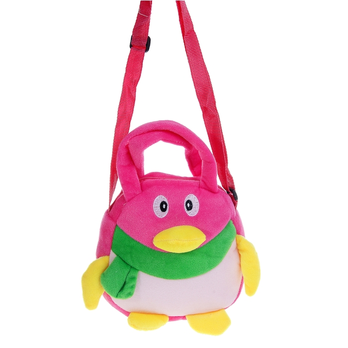 Мягкая сумочка «Пингвин», цвета МИКС