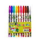 Набор гелевых ручек 10 цветов металлик, корпус с рисунком в блистере на кнопке