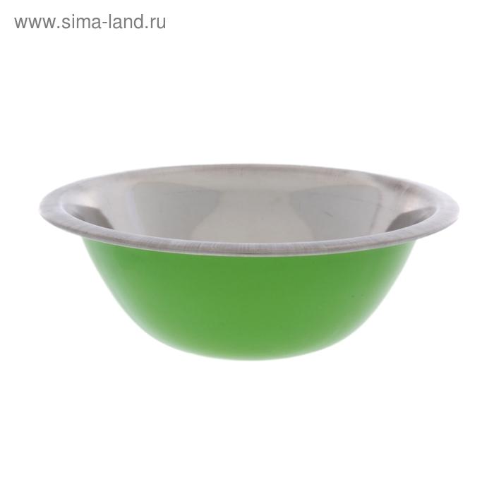Миска глубокая d=18 см, 600 мл, цвет зеленый