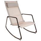 Кресло-качалка, до 80 кг, размер 90 х 53 х 89 см, цвет бежевый