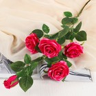 """Цветы искусственные """"Куст розовых роз с каплями"""""""
