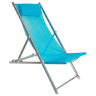 Кресло-шезлонг, до 70 кг, размер 134 х 60 х 100 см, цвет голубой