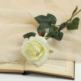 """The artificial flower """"rose with drops"""" white"""