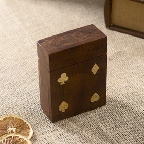 Колода карт в деревянной шкатулке